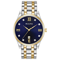 Bulova Mens Two Tone Bracelet Watch-98d130