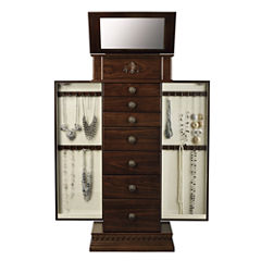 Monet Jewelry Chestnut Jewelry Armoire