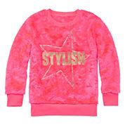 Total Girl® Long-Sleeve Fuzzy Sweatshirt - Girls 7-16 and Plus