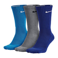 Nike® 3-pk. Dri-FIT Crew Training Socks - Big & Tall