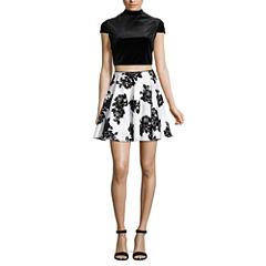 City Triangle Short Sleeve Party Dress-Juniors
