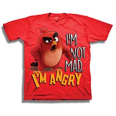 Short Sleeve Angry Birds T-Shirt-Preschool Boys