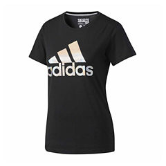 adidas Short Sleeve Crew Neck T-Shirt-Womens