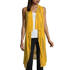 Worthington Shadow Stripe Vest Cardigan