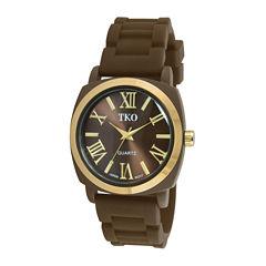 TKO ORLOGI Milano III Womens Brown Silicone Strap Watch