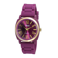 TKO ORLOGI Milano III Womens Purple Silicone Strap Watch