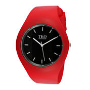 TKO ORLOGI Candy II Red Silicone Strap Sport Watch
