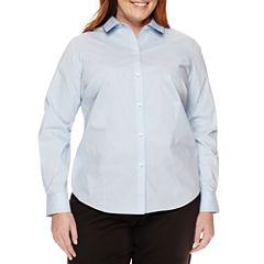 Liz Claiborne® Long-Sleeve Shirt - Plus