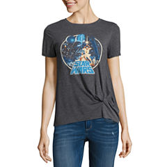 Star Wars Graphic T-Shirt with Knot- Juniors