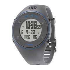 Soleus GPS One Gray Silicone Strap Running Digital Sport Watch