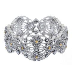 Liz Claiborne® Marcasite Drama Stretch Bracelet