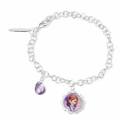 Disney Princess Sofia Brass Heart Charm Bracelet