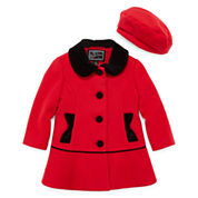 Rothschild Velvet-Trim Coat - Toddler Girls 2t-5t