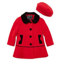 Rothschild Velvet-Trim Coat - Toddler Girls 2t-5t