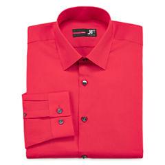 JF J. Ferrar® Long-Sleeve Slim Solid Dress Shirt