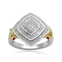1/2 CTW Diamond Two-Tone Ring