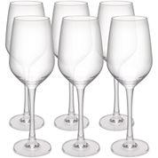 Zak Designs® Trinity Set of 6 White Wine Glasses