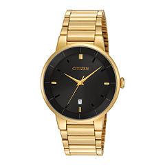 Citizen® Mens Gold-Tone Stainless Steel Watch BI5012-53E