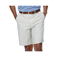Haggar® Cool 18® No–Iron Flat-Front Shorts–Big & Tall
