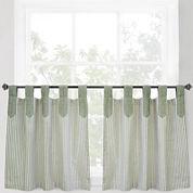 Park B. Smith® Ticking Stripe Rod-Pocket Window Tiers