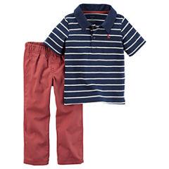 Carter's 2-pc. Polo Pant Set Boys