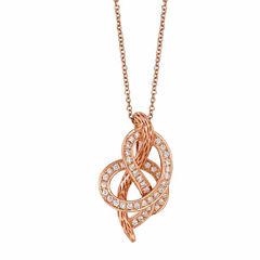 Levian Corp Le Vian Womens 1/4 CT. T.W. White Diamond 14K Gold Pendant Necklace