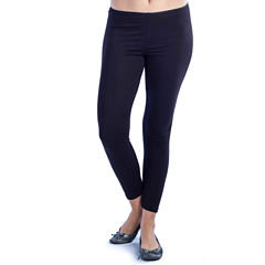 24/7 Comfort Apparel Ankle Length Solid Knit Leggings