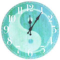 Oriental Furniture Yin Yang Wall Clock
