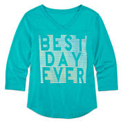 Xersion™ 3/4-Sleeve Graphic Football Tee - Girls 7-16 and Plus