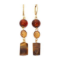 ROX by Alexa Genuine Tiger's Eye Linear Drop Earrings