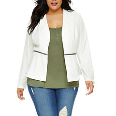 Fashion To Figure Carrie Open Front Blazer