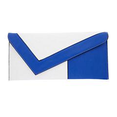 Fashion To Figure Victoria Asymmetrical Colorblock Clutch