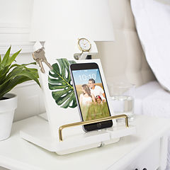 Cathy's Concepts Palm Leaf Lacquer Docking Station