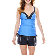Free Country® Double-Strap Adjustable Tankini Swim Top or Woven Stretch Shorts