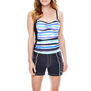 Free Country® Printed Tankini Swim Top or Stretch Shorts