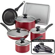 Farberware® 15-pc.Nonstick Cookware Set with Prestige® Kitchen tools