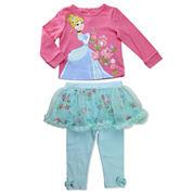 Disney Cinderella Girls Skirt Set NB-24M