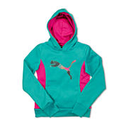 Puma® Tech Cat Long-Sleeve Knit Hoodie - Preschool Girls 4-6x