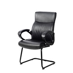 Workspace Black Leatherette Office Guest Chair