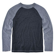 Arizona Long-Sleeve Solid Raglan Tee - Boys 8-20 and Husky