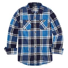 Arizona Long Sleeve Flannel Shirt Boys 8-20 & Husky