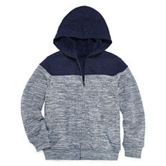 Arizona Long Sleeve Sherpa-Lined Fleece Hoodie Boys 8-20 & Husky