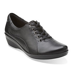 Clarks® Everlay Elma Leather Lace-Up Womens Oxfords