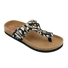 OMGirl Kimber Multi-Studded Aztec-Print Cork Girls Sandals - Little Kids