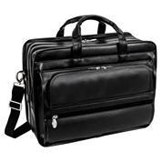 Elston 15.6 Leather Detachable Compartments Laptop Case