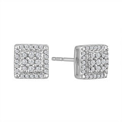 Diamond Blossom 1/5 CT. T.W. Round White Diamond Sterling Silver Stud Earrings