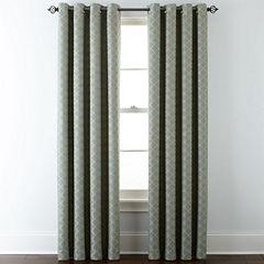 JCPenney Home™ Quinn Lattice Grommet-Top Curtain Panel