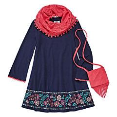 Knit Works Long Sleeve Shift Dress - Preschool Girls