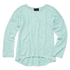 Miss Chievous Long Sleeve Henley Shirt - Big Kid Girls