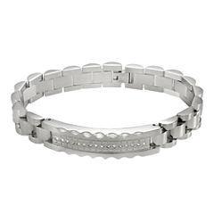 Men's 1/5 CT. T.W. Diamond Stainless Steel Bracelet